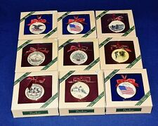 Barlow Designs Set Of 9 Hand Finished and Painted Ornaments NIB