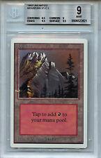 MTG Unlimited Mountain BGS 9.0 (9) Mint Magic Card WOTC 2821