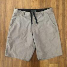 New listing Da Hui Hybrid Board Shorts Mens 32 KhakiSwim Surf Stretch Pockets Dahui Khaki