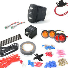 Universal Turn Signal Light Kit For All Sxs Atv Utv With Rocker Switch Indicator