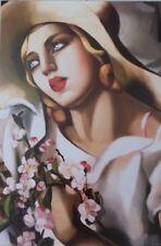 "TAMARA DE LEMPICKA - ""PORTRAIT FILLE"" - FINE ART PRINT - 36"" x 24"" - COA"