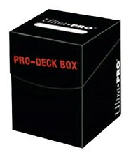 Ultra Pro 100+ Black Pro-Deck Box (Trading Card Accessories) NEW holds 110 cards