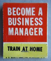 Become A Business Manager ICS Montreal Matchbook (MK1)