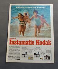 PUB PUBLICITE ANCIENNE ADVERT CLIPPING 040717 / APPAREIL PHOTO INSTAMATIC KODAK