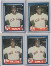 1986 Fleer Update  #U-10 Don Baylor Red Sox Lot of 4