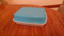 NEW Tupperware Season Serve container in Salt Water Blue opaque seal Marinader