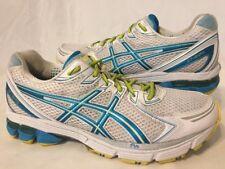 Women's ASICS Gel GT-2170 Running Shoes White Tahiti Blue Neon Yellow Size 11.5