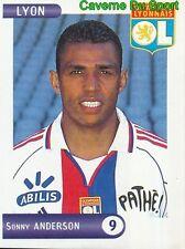 130 SONNY ANDERSON BRAZIL OLYMPIQUE LYONNAIS OL STICKER FOOT 2001 PANINI