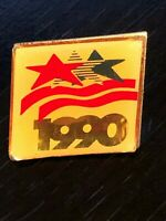 Collectible Vintage USA 1990 Stars Waves Colorful Metal Pinback Lapel Pin