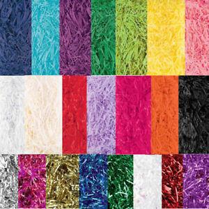 COLOURED SOFT SHREDDED TISSUE PAPER HAMPER GIFT BOX FILLER PACKAGING 15 Colours