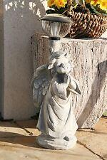 54 cm Lampe Solarlampe Engel Putte Gartenfigur Gartenlampe Skulptur Gartendeko