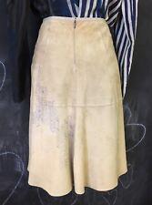 Strenesse skirt soft suede 34/36 goat Leather avant garde gabriele strehle BLUE