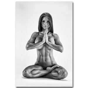 MICHELLE LEWIN Sexy Bodybuilding Yoga Girl Silk Poster 13x20 24x36 inch