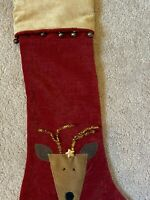 Woof & Poof Christmas Stocking Reindeer w button Collectible 2006 NWOT