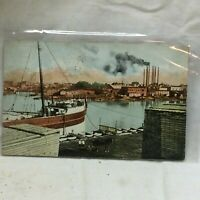 Vintage Postcard Tonawanda New York Harbor Scene 1912 Twin Cities Nautical