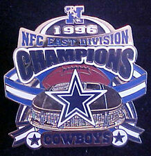 DALLAS COWBOYS 1996 NFC EAST DIVISION CHAMPIONS WILLABEE & WARD COMM SERIES PIN