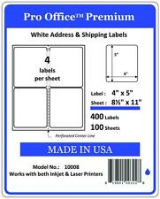 PO08 400 Premium Shipping Labels Self Adhesive (4) Per Sheet 4