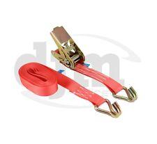 2 X 5m Cargo Ratchet Strap Tie Down Lashing Heavy Duty 25mm 1 Ton Claw Hook