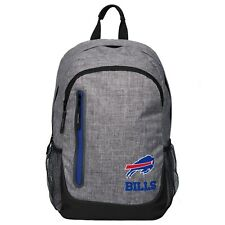 Buffalo Bills BackPack Back Pack Book Sports Gym School Bag New Heather Grey