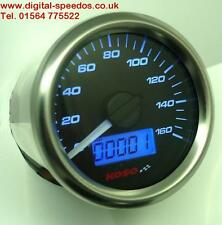 KOSO D48 small Digital Speedometer Speedo MPH/KPH Gauge with speed sensor Blk