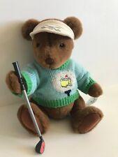 """Gund Master Augustas 01 Masters Golf 10"""" Teddy Bear with Club"""