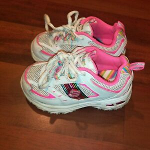 Skechers S Sport 80378N Toddler Girls Jogger Sneakers Pink White sparkle Size 7