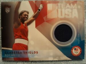 CLARESSA SHIELDS 2016 Topps US OLYMPIC TEAM RELIC CARD #USOTR-CS boxing