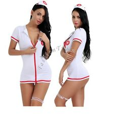 Women's Nurse Doctor Costume Lingerie Halloween Cospaly Outfit Fancy Sexy Dress