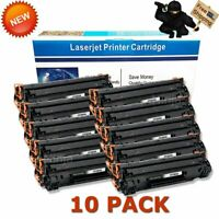10 Pack Black Toner for HP CF283A 83A LaserJet Pro M127fn M127fw M125nw MFP