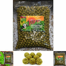 "Feedingboilies TOP SECRET Futterboilies Hemp ""Hanf"" 18mm 3kg Cannabis Boilies"