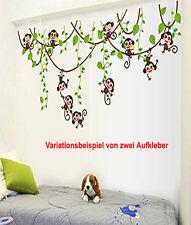 Wandaufkleber Wandtattoo Wandsticker Deko Monkey Affe Schaukel Baby Kinderzimmer