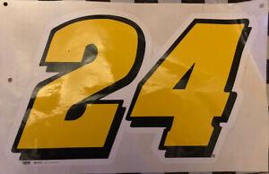 "12"" X 10"" Jeff Gordon Number  24 Vinyl Decals Stickers Nascar Hall of Famer"