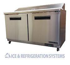 "Sun Ice Commercial 60"" Salad & Sandwich Prep Table Refrigerator Cooler SUNST-60"