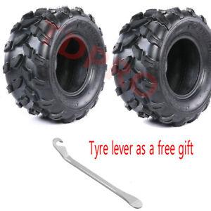 Pair 18x9.5-8 18x9.50-8 Rear Tyre Tubeless fr ATV UTV QUAD BUGGY TURF LAWN MOWER