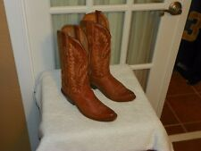Old West Brown Leather Snip Toe Cowboy Boots Size 5.5 M Style LF1529