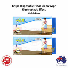 120pc Disposable Dry Cleaning Cloth Sweeper Pad Dust Floor Mop Electrostatic