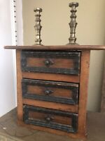 Antique English Oak Chest Minuature Salesman Sample