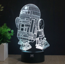 R2-D2 Star Wars TABLE LAMP Night Light LED 3D Illusion Novelty Multiple Colors