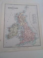 Antique Map 1890 ~ THE BRITISH ISLES - From Philips Atlas For Beginners  §3