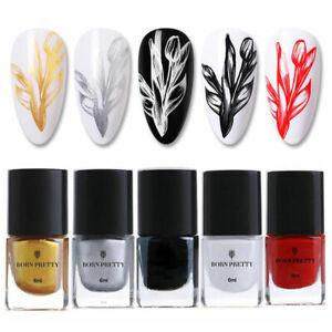BORN PRETTY Nail Art Stamping Polish DIY Stamping Plates Nail Varnish Manicure
