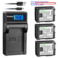 Kastar Battery LCD Charger for Canon BP-808 CG-800 & Canon FS300 Camcorder