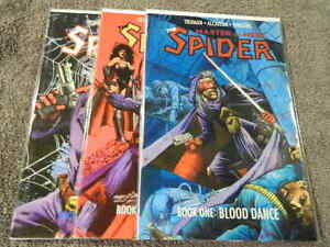 1991 ECLIPSE Comics THE SPIDER: Master Of Men! #1-3 Complete TPB Set - VF/NM