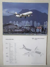 DOCUMENT 1 PAGE RECTO/VERSO DAIMLER AIRBUS A330-300 DRAGONAIR CHINA AIRLINE