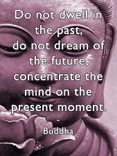 Inspirational Buddha quote tin metal sign door wall plaque meditation purple