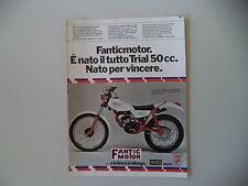 advertising Pubblicità 1979 MOTO FANTIC TRIAL 50 330
