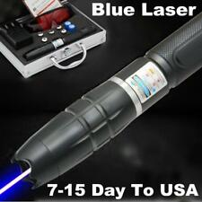 2017 High Power Military Blue Laser Pointer Pen Lazer Torch Focus Burning Match