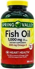 Spring Valley Omega-3 Fish Oil Soft Gels, 1000 mg, 300 Count