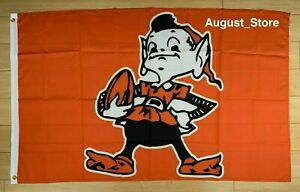 Retro Cleveland Browns 3x5 ft Flag NFL Banner Dawg Pound