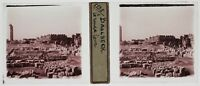 Baalbek Libano Foto T4P10 Placca Da Lente Stereo 1935