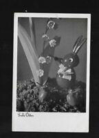 86- Ostern * Hase, Blumen * 1940 Feldpost Vilseck z.Inf. Ers. Batl 481 Hof